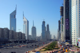 Sheikh Zayed Road from the Fairmont footbridge