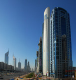 Sheikh Zayed Road with API Tower and Park Place