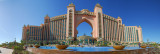 Panorama from the beach side of Atlantis with the pool area