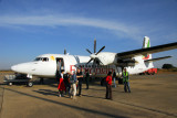 Arriving in Bahir Dar on Ethiopia Airways Fokker 50