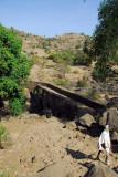 Stone bridge over the Nile below the falls