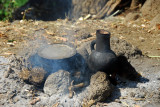 Blacked cooking vessels