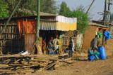 Roadside village heading north from Bahir Dar