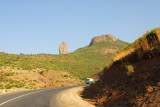 The road to Gonder climbing northwest from Addis Zemen
