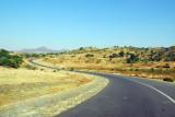 Ethiopia highway 3 approaching Guzara Castle