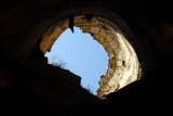 Looking up a tower, Guzara Castle