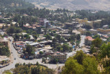 Part of downtown Gondar from the Goha Hotel terrace