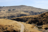 The road from Debark to Simien Mountains Nationanl Park