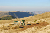 Site of our evening sundowners behind the Simien Lodge