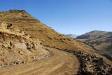 Main park road, Simien Mountains National Park