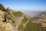 The cliffs around Chenek are prime habitat for the Walia Ibex