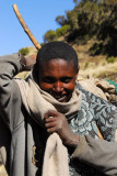 Ethiopians living within the Simien Mountains National Park
