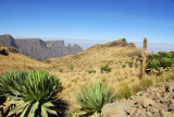 Simien National Park road from Chenek up Mount Bwahit