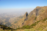 Geech Abyss from the park road, Simien Mountains