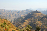 The rugged landscape we had seen from atop the Simien Escarpment