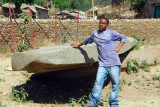 Our local Axum guide with the 5th decorated stele