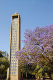 The bell tower vaguely resembles a Stele of Axum