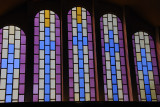 Stained glass windows inside the New Cathedral of St Mary of Zion, Axum