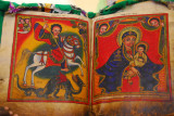 Pages from an ancient Ethiopian Bible said to be the basis of many of the wall paintings in churches today