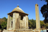 Old and new bell towers at the churches of St Mary of Zion, Axum