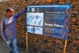 The guide describing Dungur Palace, Axum
