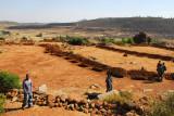 Excavations near the granite quarry, Axum