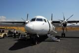 Ethiopian Airlines Fokker 50 at Lalibela