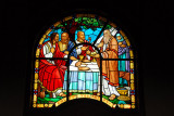 Holy Trinity Cathedral, Addis Ababa stained glass - old testament scene along north wall