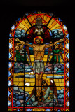 Holy Trinity Cathedral, Addis Ababa stained glass - The Crucifixion