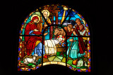 Holy Trinity Cathedral, Addis Ababa stained glass - The Nativity