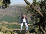 Me, on the edge, Simien Mountains
