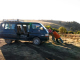 Keith helped push-start this van securing us a lift a few miles down the road to our starting point
