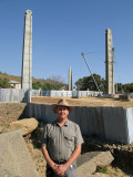 Keith with the Stelae of Axum