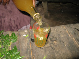 Pouring Tej...after getting rid of the dead bugs