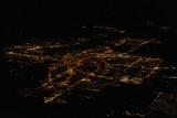 Night aerial of Ottawa, Ontario, the capital of Canada