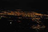 Night aerial of Montreal, Quebec, from the north