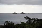 Rocky islets across the Blue Lagoon, Ilocos Norte