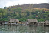 Fishermen's huts built on stilts over the sheltered waters around Culion Town