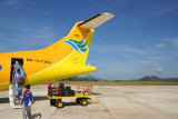 Apparently Cebu Pacific's ATRs need 5 miles visibilitiy for a visual approach at Busuanga