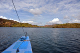 Sailing west from Coron Town between Baquit and Uson Islands to reach the major wrecks of the Japanese fleet