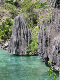 Eroded limestone of Coron Island
