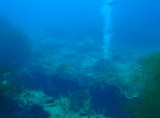 Bubbles rising from a hole in the hull of Kogyo Maru