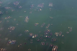Fish farms, Lake Taal, Luzon, Philippines