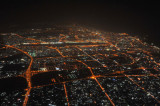 From over Sharjah looking towards Dubai Airport
