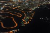 Al Mamzar Beach Park, Dubai, at night