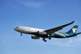 Oman Air A330 with Indian registration VT-JWE at Heathrow
