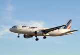 Air France A320 (F-GFKV) landing at LHR