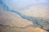 Khabat, Iraq and farmland along the Great Zab River, Kurdish north