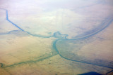 Confluence of the Tigris and Euphrates at Al Qurna, Iraq