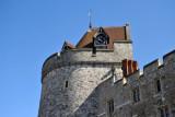 Curfew Tower, the oldest part of Windsor Castle, on the northwest corner
